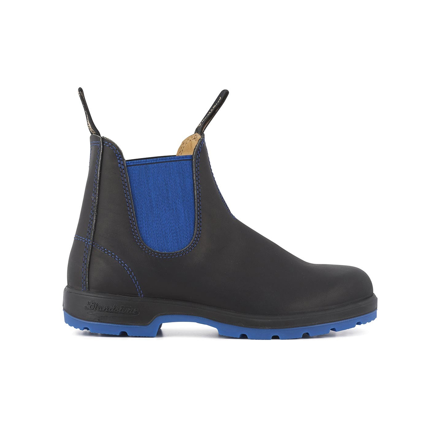 1403  Two-Tone Boots - Black / Blue