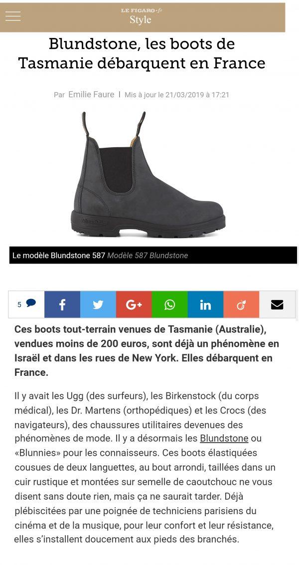 Figaro Blundstone France